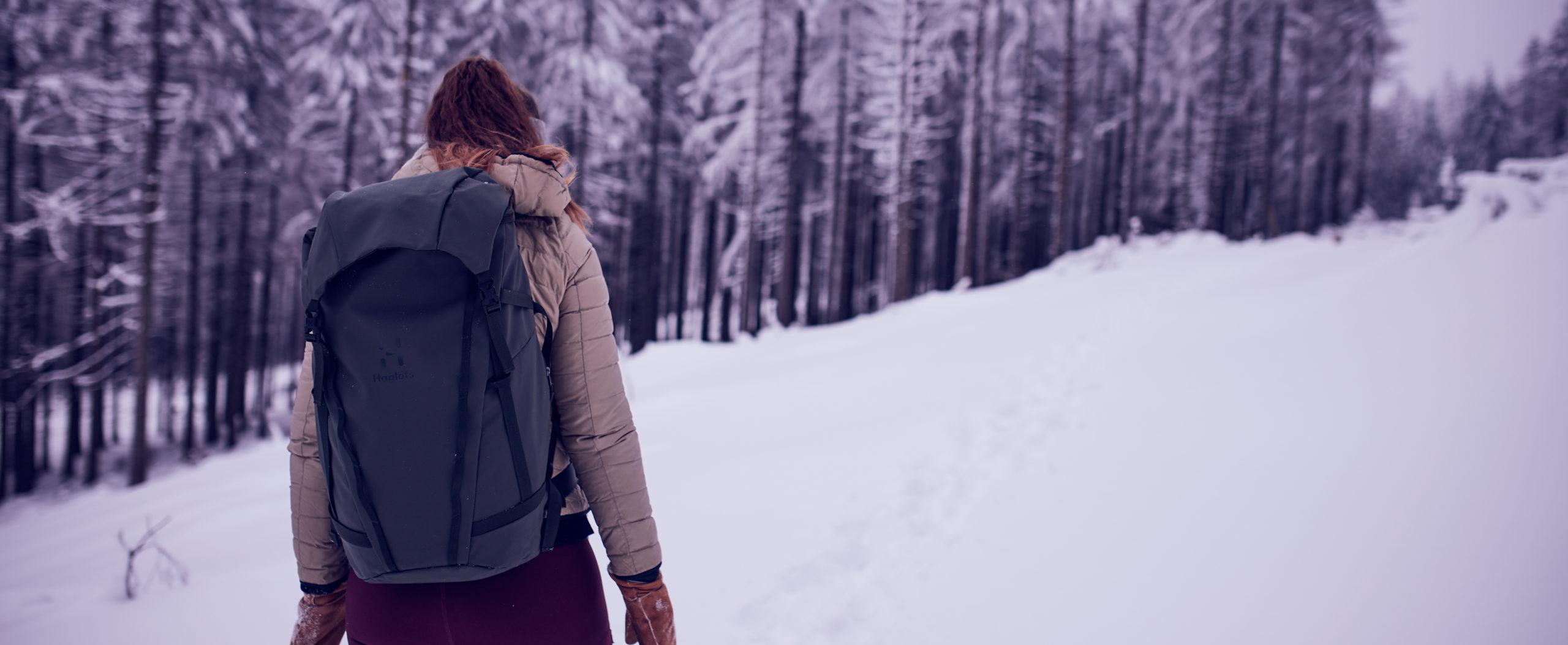 she wanders Rucksack im Harz mit Rucksack