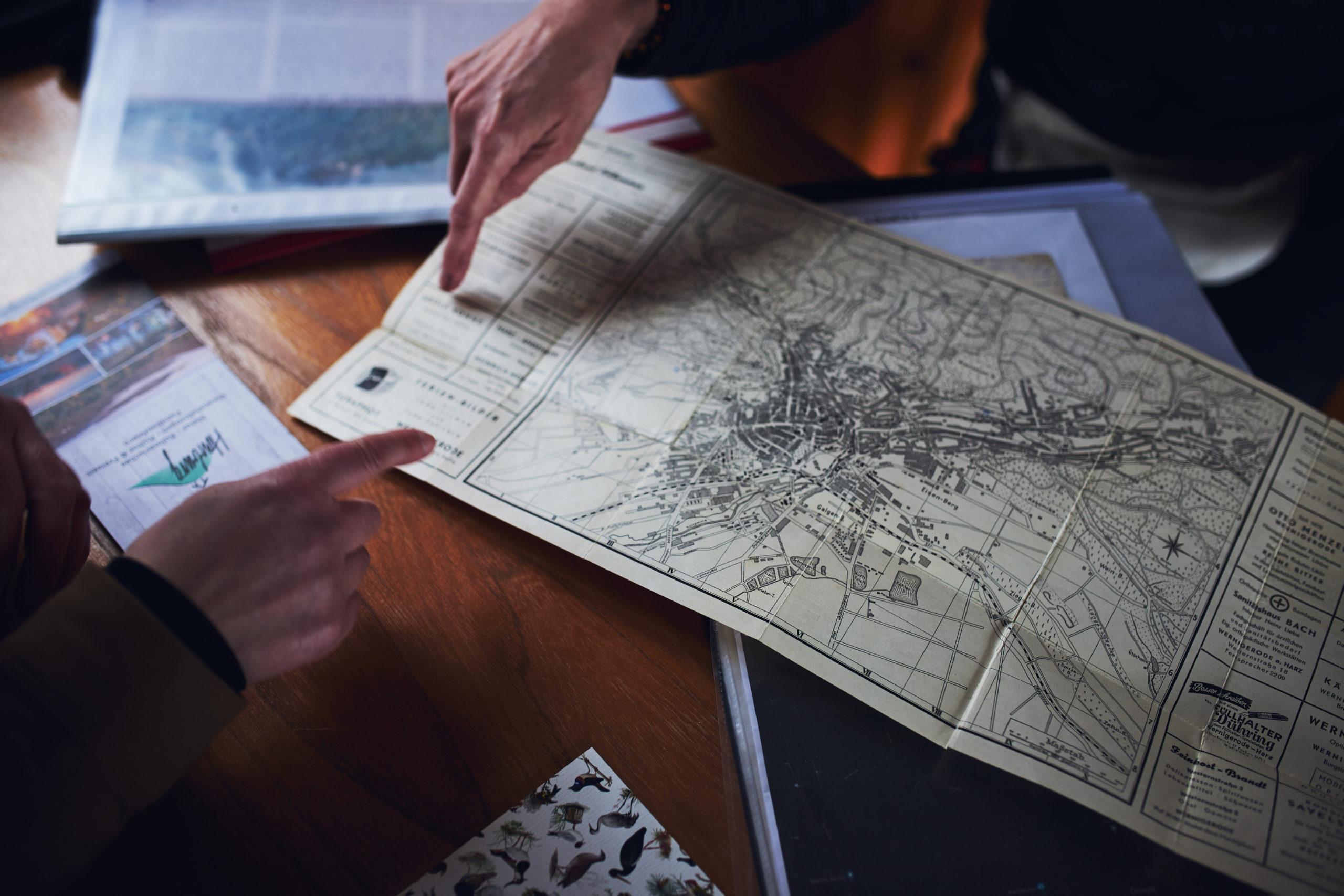Historische-Stadtkarte-der-Harburg-im-Harz-in-Wernigerode